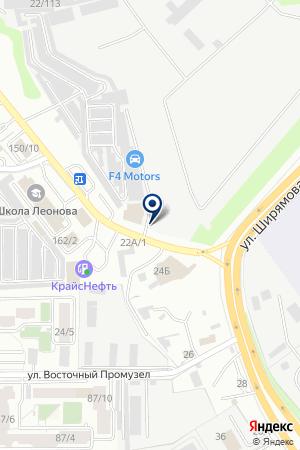 Ариста на карте Иркутска