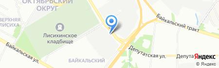Лесотехника на карте Иркутска