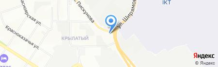 Стрит-АВТО на карте Иркутска