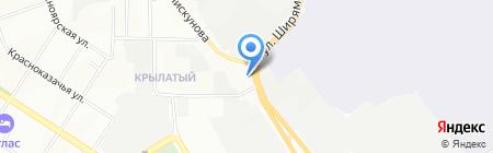 Шифэнтрактор на карте Иркутска