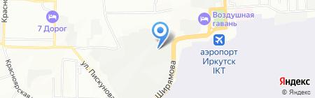 Фактура на карте Иркутска