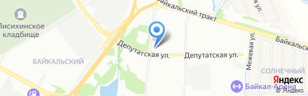 Гранд Байкал на карте Иркутска