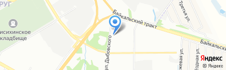 Старый филин на карте Иркутска