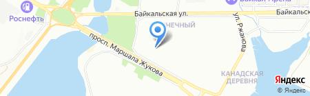 Авиа Джет на карте Иркутска