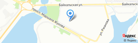 Белка на карте Иркутска