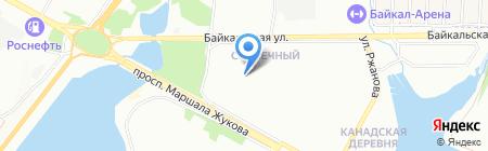 Семейка на карте Иркутска