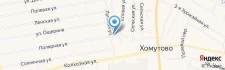 Янта на карте Хомутово