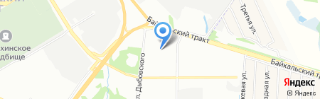 Город Детства на карте Иркутска