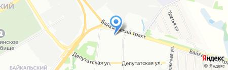Банкомат Сбербанк России на карте Иркутска