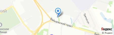 Корпоративный перевозчик на карте Иркутска