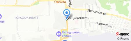 Ночной экспресс на карте Иркутска