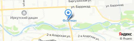 АнгарСибСтрой на карте Иркутска