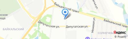 Строящийся коттеджный поселок на карте Иркутска