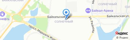 Сеть оптических салонов на карте Иркутска
