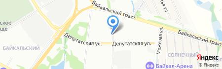 Автомойка на Байкальской на карте Иркутска