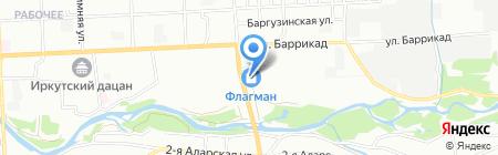 Модные стены на карте Иркутска