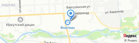Стройград на карте Иркутска
