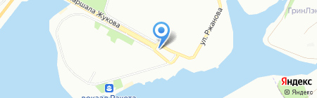 Сеть автостоянок на карте Иркутска