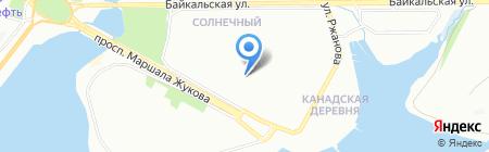 Коралл на карте Иркутска