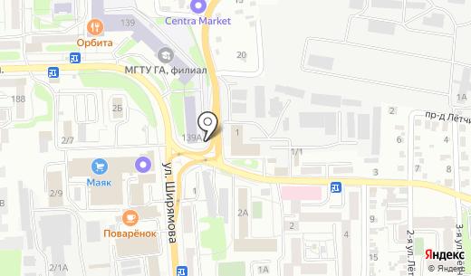 Фаворит. Схема проезда в Иркутске
