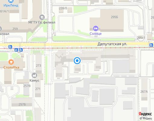 Товарищество собственников недвижимости «Солнце» на карте Иркутска
