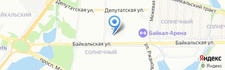 Крона-Банк на карте Иркутска