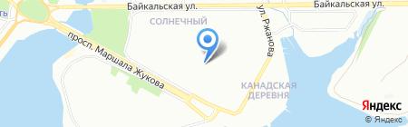 Четыре с хвостиком на карте Иркутска