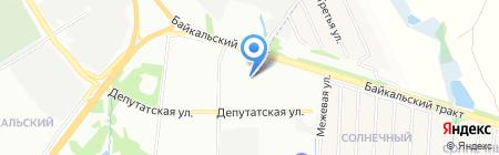 Аварийно-спасательная служба Иркутской области на карте Иркутска