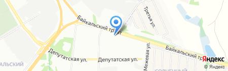 КАРГО-ЭКСПРЕСС на карте Иркутска