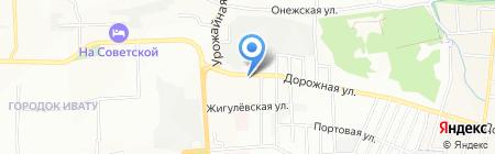 Зиг-заг на карте Иркутска