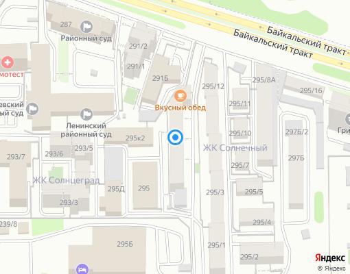 Товарищество собственников жилья «Наш мир» на карте Иркутска