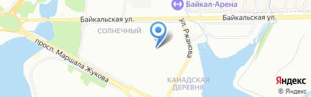 Глория на карте Иркутска