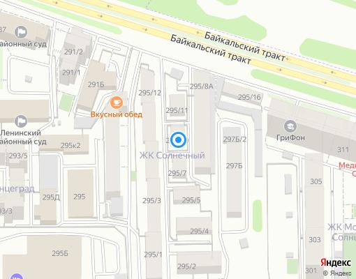 Товарищество собственников жилья «ТСЖ ЛУЧ» на карте Иркутска