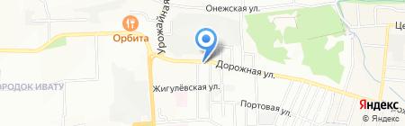 Сенеж на карте Иркутска