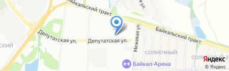 ИркОблСнаб на карте Иркутска