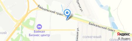 Транс-Сиб-Байкал на карте Иркутска