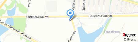 Адмиралъ на карте Иркутска