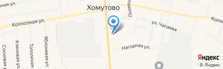 Народный Дом на карте Хомутово