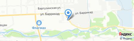 Маяк на карте Иркутска