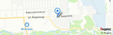 Асфальто-бетонный завод на карте Иркутска