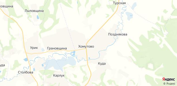 Хомутово на карте