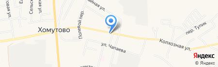 Продуктовый магазин на ул. Колхозная на карте Хомутово