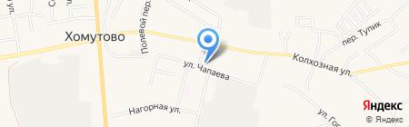 Хомутовское на карте Хомутово