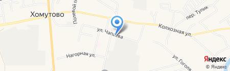 Огонек на карте Хомутово