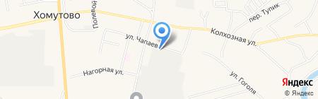 Стройиндустрия на карте Хомутово