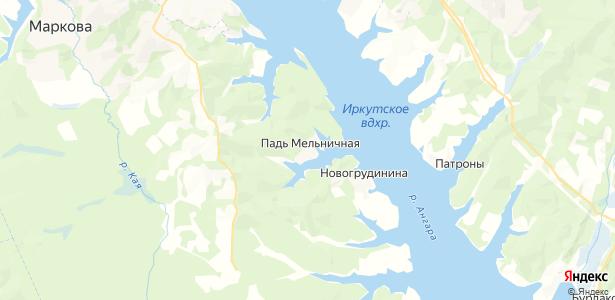 Падь-Мельничная на карте