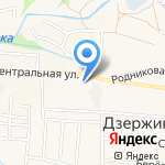 Детский сад на карте Дзержинска