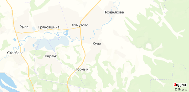 Куда на карте