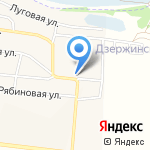 Пятая Армия на карте Дзержинска