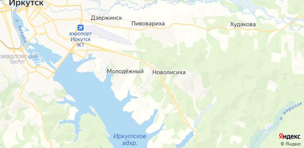 Новолисиха на карте